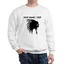 Custom Indian Headdress Outline Sweatshirt