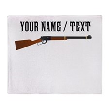 Custom Rifle Throw Blanket
