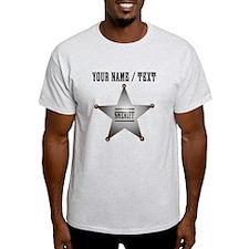 Custom Sheriff Badge T-Shirt