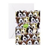 Funny Birthday PBGV Dogs Greeting Cards (Pk of 10)