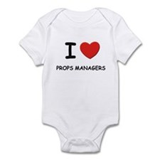 I love props managers Infant Bodysuit