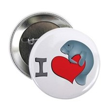 I heart manatees Button