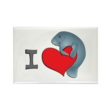 I heart manatees Rectangle Magnet