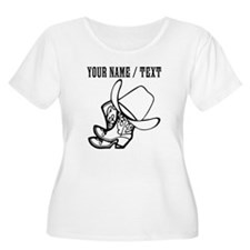 Custom Cowboy Hat And Boots Plus Size T-Shirt