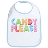 Candy Please I Love Candy Bib