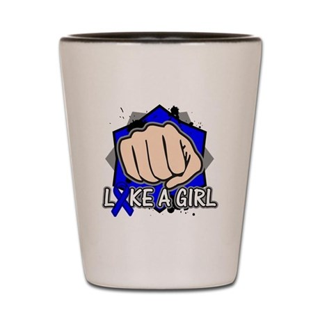 Rectal Cancer Punch Fight Like A Girl Shot Glass