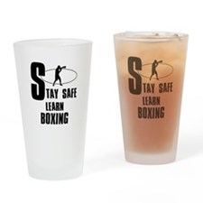 Stay safe learn Boxing Drinking Glass