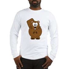 Happy Beaver Long Sleeve T-Shirt