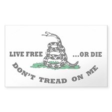 Don't Tread on Me Sticker w/ Live Free or Die () S