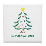 Christmas Tree 2010 Tile Coaster