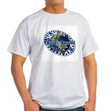 Travel Addict 'Compass' variant Ash Grey T-Shirt