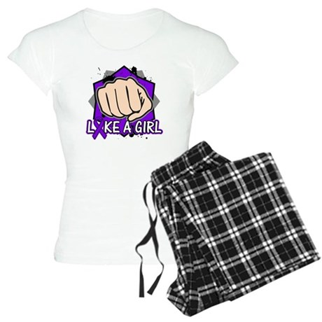 Pancreatic Cancer Punch Fight Women's Light Pajama