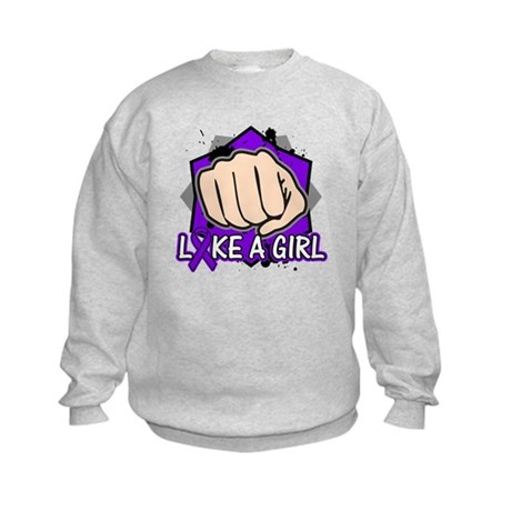 Pancreatic Cancer Punch Fight Kids Sweatshirt