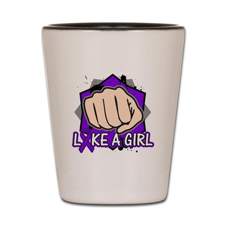 Pancreatic Cancer Punch Fight Shot Glass