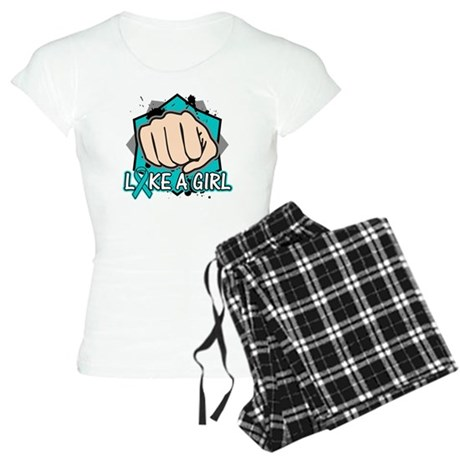 Ovarian Cancer Punch Fight Women's Light Pajamas