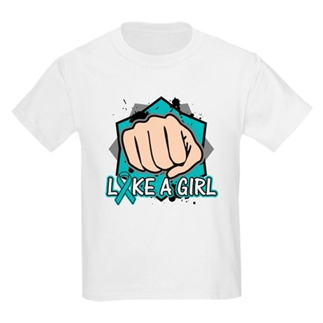 Ovarian Cancer Punch Fight Kids Light T-Shirt