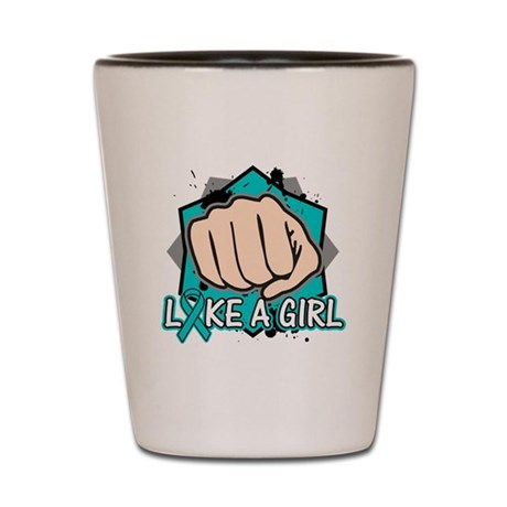Ovarian Cancer Punch Fight Shot Glass