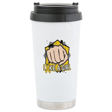 Neuroblastoma Punch Fight Ceramic Travel Mug