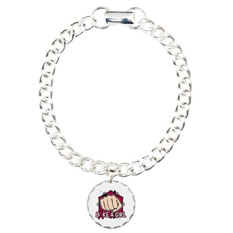 Multiple Myeloma Punch Fight Charm Bracelet, One C