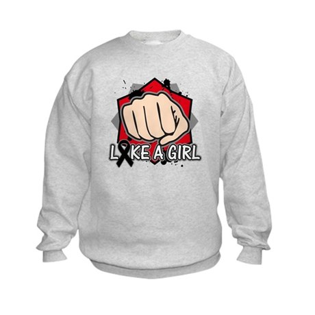 Melanoma Punch Fight Kids Sweatshirt