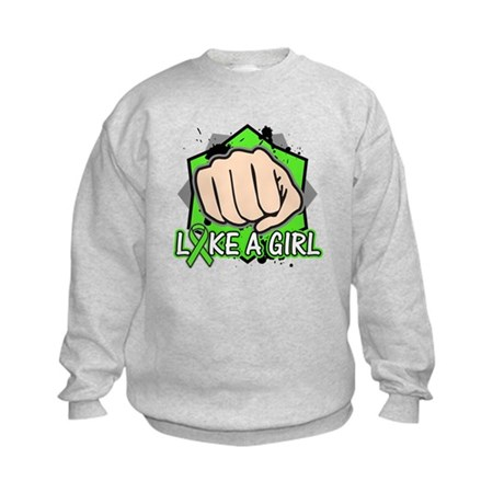 Lymphoma Punch Fight Kids Sweatshirt