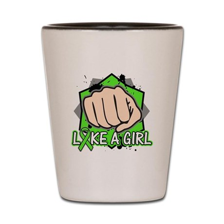 Lymphoma Punch Fight Shot Glass