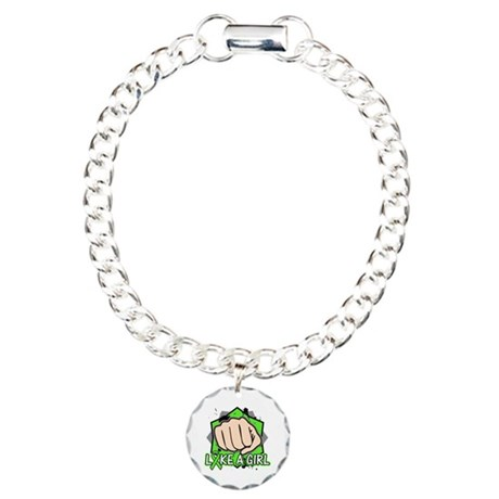 Lymphoma Punch Fight Charm Bracelet, One Charm