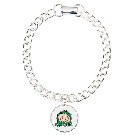 Liver Cancer Punch Fight Charm Bracelet, One Charm
