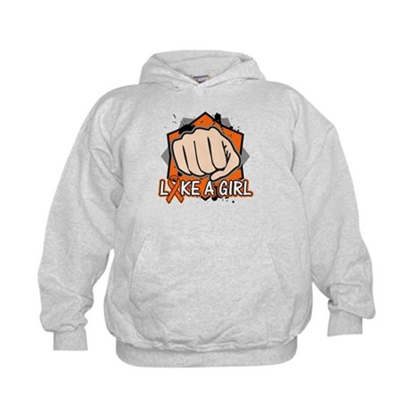 Leukemia Punch Fight Kids Hoodie