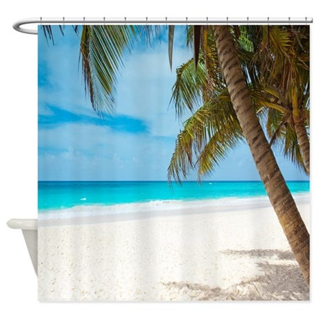 Beach paradise shower curtain by walela