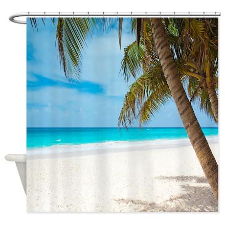 beach paradise shower curtain by walela