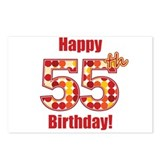 Happy 55th Birthday! Postcards (Package of 8)