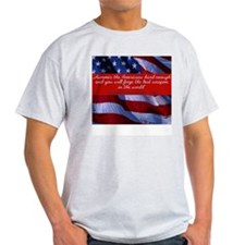 Hammer the Americans-  Ash Grey T-Shirt
