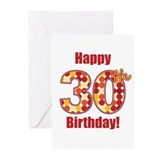 Happy 30th Birthday! Greeting Cards (Pk of 10)
