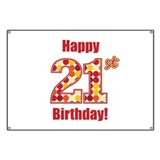 Happy 21st Birthday! Banner