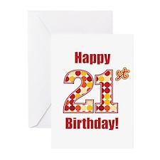 Happy 21st Birthday! Greeting Cards (Pk of 20)