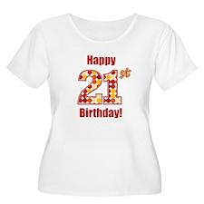 Happy 21st Birthday! Plus Size T-Shirt
