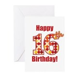 Happy 16th Birthday! Greeting Cards (Pk of 20)