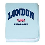 London England Union Jack baby blanket
