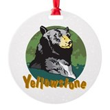 Yellowstone Bear Round Ornament
