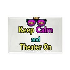 Crown Sunglasses Keep Calm And Theater On Rectangl