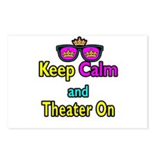 Crown Sunglasses Keep Calm And Theater On Postcard