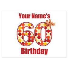 Happy 60th Birthday - Personalized! Flat Cards