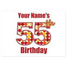Happy 55th Birthday - Personalized! Flat Cards