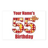 Happy 55th Birthday - Personalized! Postcards (Pac