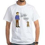 Human Vs. Dog White T-Shirt