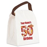 Happy 50th Birthday - Personalized! Canvas Lunch B
