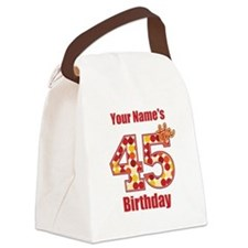Happy 45th Birthday - Personalized! Canvas Lunch B