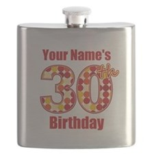 Happy 30th Birthday - Personalized! Flask