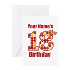 Happy 18th Birthday - Personalized! Greeting Card
